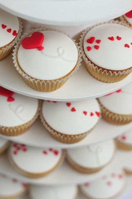 cupcakes de coração