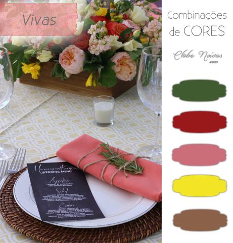 Combinação de Cores Vivas Para Decoração - Rosa,amarelo, verde e vermelho