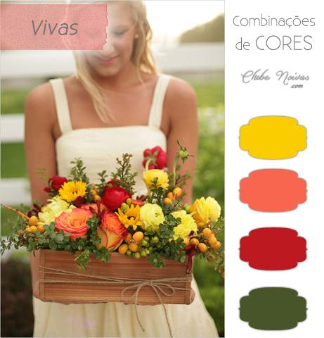 Combinação de Cores Vivas Para Decoração - Amarelo, Laranja, Vermelho e Verde