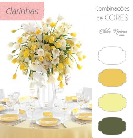 Decoração de Casamento - Dois tons de amarelo, branco e verde