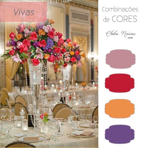 Combinação de Cores Vivas Para Decoração - Rosa, Coral, Laranja e Lilás