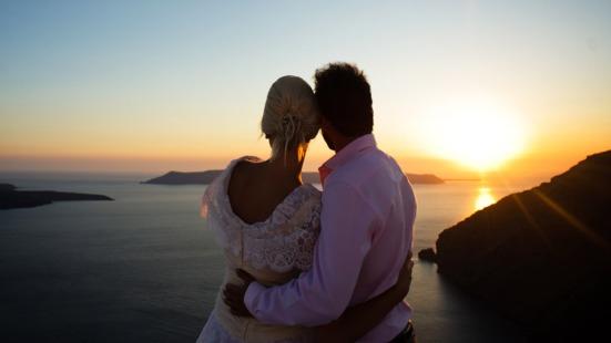 Casamento em Pôr do Sol em Santorini - Grécia - Agência Travel Zone